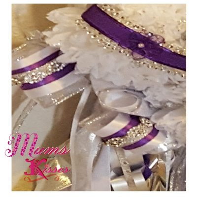 Triple homecoming mum purple