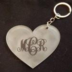 Monogram Etched Heart