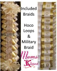 Included Loops & Fancy Military Braid