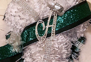 NEW! Banner with Bling Letter