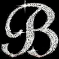 Rhinestone Bling Letter