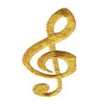 Treble Clef Gold