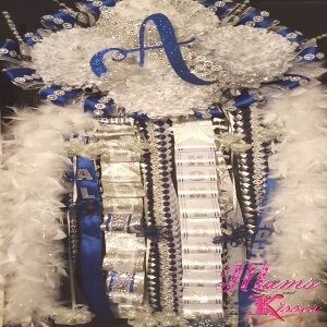 Texas Mums and Garters - Custom Mums