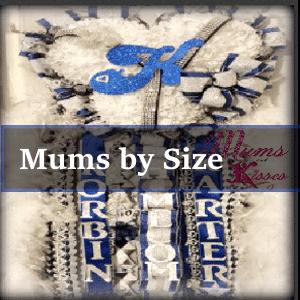 homecoming mum sizes