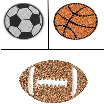 Glitter Sports Decal